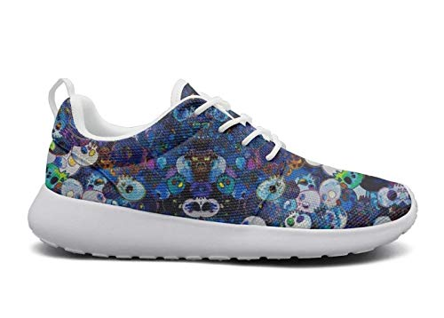 Eoyles gy Abstract Blue Skull Art Womens Slip Resistant Lightweight Running Boat Shoes -