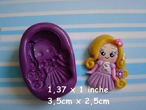 Lote de 6 Moldes de Silicona Princesas Ariel, Rapunzel, Blanca Nieves, Bella, Cenicienta, Aurora Porcelana fria, Fimo: Amazon.es: Handmade