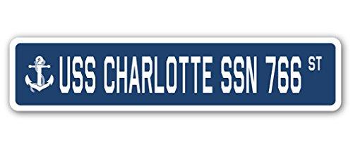 USS CHARLOTTE SSN 766 Street Sign us navy ship veteran sailor - Charlotte Sun Florida