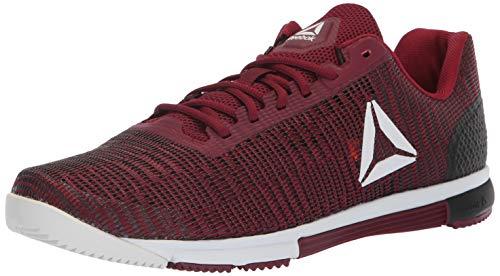Reebok Men's Speed Tr Flexweave Cross Trainer, Rustic Wine/Black/Spirit, 11.5 M US (Speed Training Shoes)