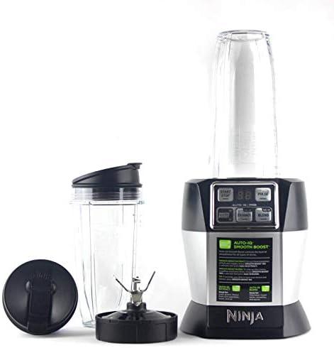 Nutri Ninja BL487T Personal Blender Auto-IQ Pro 1100-Watt 1 24oz and 1 32oz Tritan Ninja Cup With Sip Seal Lids Renewed