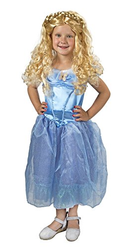 Wig Movie Child Cinderella (Maven Gifts Disguise Girls Cinderella Movie Classic Costume with Wig Small)
