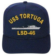 Uss Tortuga - USS TORTUGA LSD-46 EMBROIDERED SHIP CAP