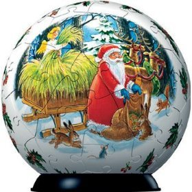 Puzzle Ball Santa in the Forest