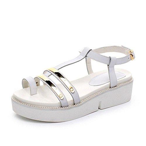 Bagatela zapatos de fondo grueso lentejuelas ranurados remaches zapatos de mujer White