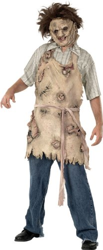 [Rubie's Costume Texas Chainsaw Massacre Deluxe Apron Of Souls, Brown, One Size] (Leather Apron Costume)