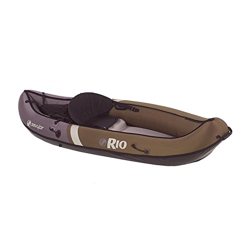 Sevylor Inflatable Rio Hunting and Fishing Canoe, 1-Person