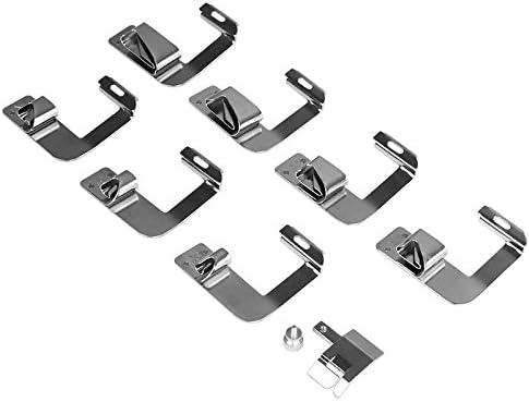 Kit de prensatelas para máquina de coser, piezas de repuesto y accesorios para máquinas Brother o Singer (Set de 8 Piezas)