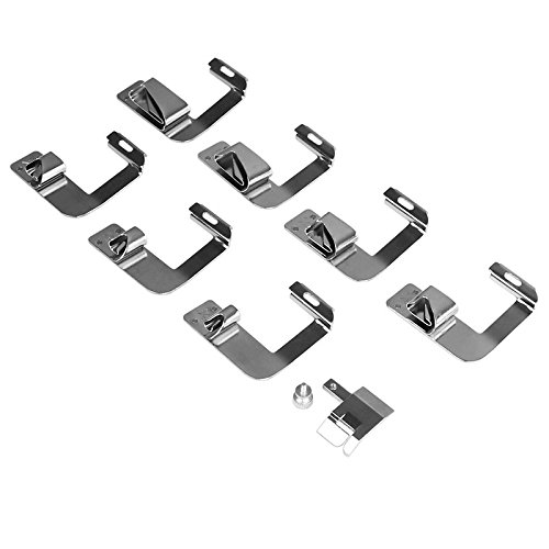 ONEVER Zinc Alloy Rolled Hammer Presser Foot for Brother Singer Necchi Elana Janome Sewing Machine, 8pcs in 1 set - Hemmer Presser Foot