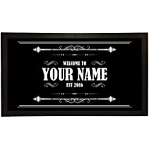 Bar Runner Welcome To Your Name's Bar Drip Spill Mat Personalized Bar Gifts