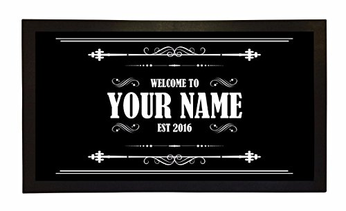 Bang Tidy Clothing Bar Runner Welcome to Your Name's Bar Drip Spill Mat Personalized Bar Gifts -