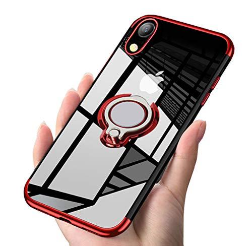 ATUSIDUN(《아토스톤》)iPhone 케이스 링 미끄러져 방지내 충격 iPhone XR 빨강