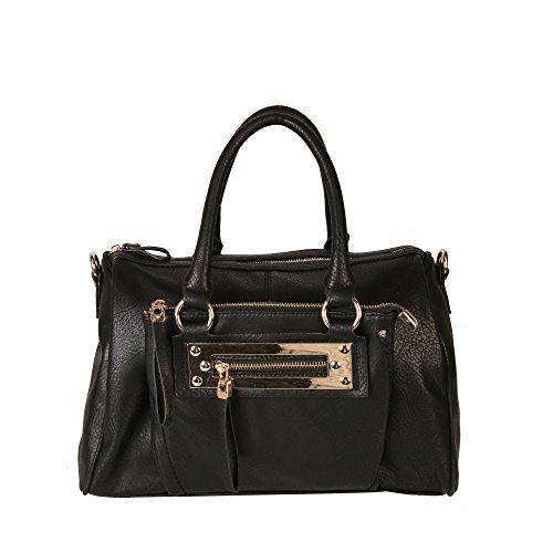 UPC 688614614693, Diophy Dual Compartments Top Handles Doctor-style Satchel Handbag Purse MY-2401 Black