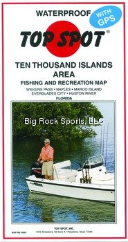 Top Spot Map N204 10 Thousand Islands Florida Area Fishing and Recreation Map by Topspot