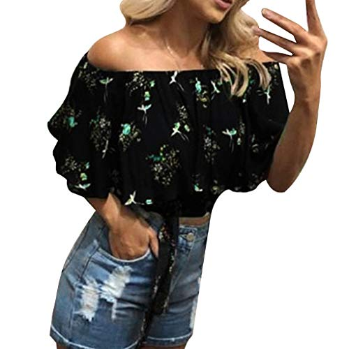 Hard-Working Tank Top Women Floral Printing Off Shoulder Shirt Sleeveless Vest Tank Tops Streetwear Blouse Haut Femme Women Summer Top L3 Tops & Tees Women's Clothing
