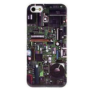 GDW estuche rígido placa patrón transparente marco de 5/5s iphone