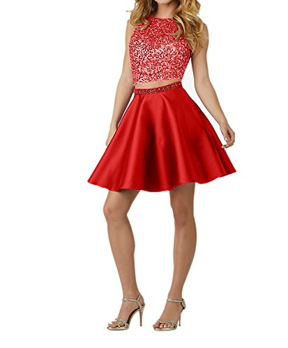 mit Pailletten Jugendweihe Ballkleid Kleider Kurz Abendkleider Royal Damen Damen Festliche Blau Rot Charmant Kleider 17zqPFwxx