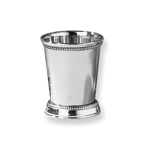 Bar Accessory Stainless Steel Beaded Mint Julep Cup