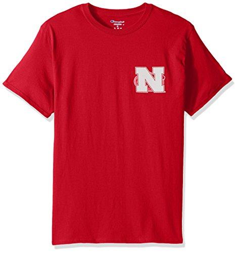 - Champion NCAA Nebraska Cornhuskers Team Color University Short Sleeve Tee