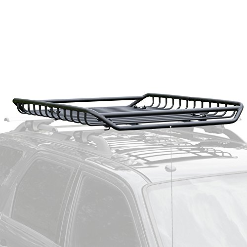 Apex RB-1512 Black Car Top Roof Rack Carrier Mesh Basket ()