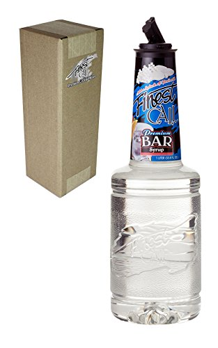 Finest Call Premium Bar/Sugar Syrup Mix, 1 Liter Bottle (33.8 Fl Oz), Individually Boxed -