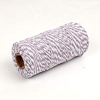 NewTrend 328 Feet Cotton Twine for DIY Craft, Packing, Decoration and Gardening, 3Ply Durable String and Eco-Friendly(Purple) : Office Products