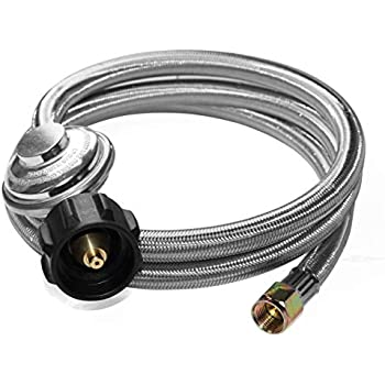 Heater and Fire Pit Table STYDDI 3 Feet Low Pressure Propane Regulator and Hose with Propane Tank Gauge 3//8 Female Flare Nut Universal QCC1 Replacement Hose with Regulator for Most LP Gas Grill