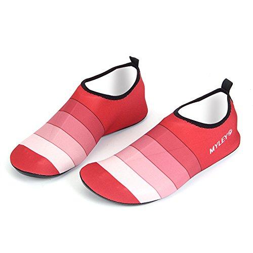 Spiaggia Acquatico Suola Elastico 360 Flessibile Piscina Condotta Sport Antiscivolo Yoga Rapida Per nbsp;° Surf Rosso Asciugatura Scarpa Hysenm wCq857