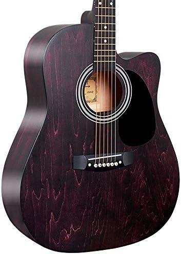 軽やかで安定したギター コーナー着色男性と女子学生のフォークアコースティックギターがありません完全栃木 持ち運びや収納に便利です (色 : B, Size : 41 inches)
