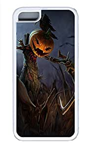 iPhone 5c Cases - Lovely Mobile Phone Halloween Game And Pumpkin Face Ugly Bird White Rubber Bumper Protecting Shell