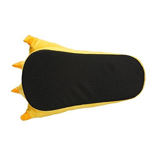 Pantofole Gelb Zampa Cosplay Scarpe Costume Peluche pin Artigli Animale Lath Halloween TCwnAHqAf