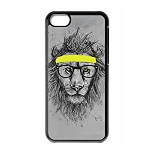 Cool lion Cover Case for Iphone 5C,diy Cool lion cover case series 2