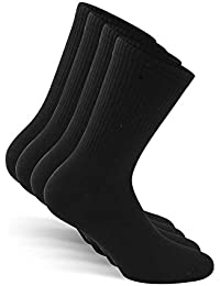 Crew Socks (4 Pairs) German Brand (Size 3-15) Men & Women
