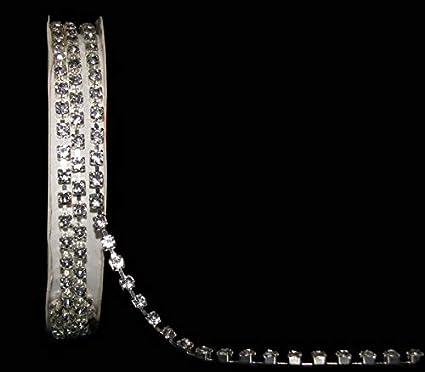 "3 Foot Spool Rhinestone Crystal Faux Diamond Chain Trim Ribbon 1//8/""W"