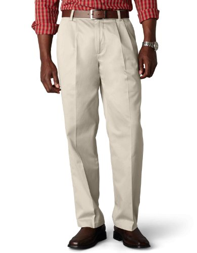 Dockers Men's Signature Khaki Big and Tall Pleated Pant