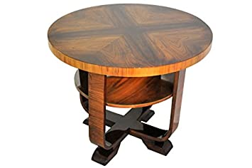 Amazon.com: OAM Art Deco Side Table Walnut Wood: Home & Kitchen