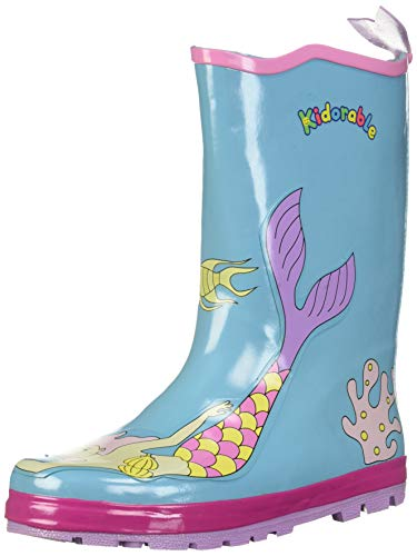 (Kidorable Girls' Toddler/Little Kid Mermaid Rainboot, Aqua 8 M)