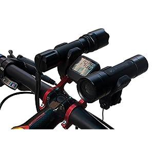 Docooler® GUB 31.8MM Double Handlebar Extension Mount Carbon Fiber Extender Holder for Bike Light Bicycle Speedometer