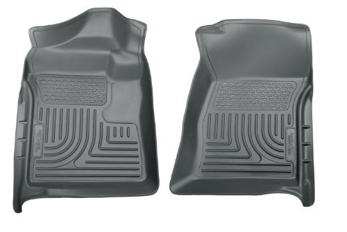 Husky Liners Custom Fit WeatherBeater Molded Front Floor Liner for Select Ford F-250 /F-350 Models (Grey) by Husky Liners (Gray Weatherbeater Floorliner)