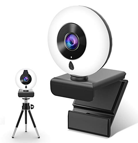 🥇 Webcam con Micrófono y Anillo de Luz