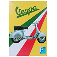 Vespa Scooter, Metal Tin Sign, Vintage Style Wall Ornament Coffee & Bar Decor, 20 X 30 Cm.