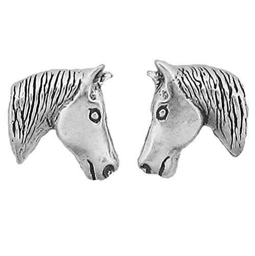 925 Sterling Silver Horse Head Earrings Charm Mare Colt Pony Mustang Bronc