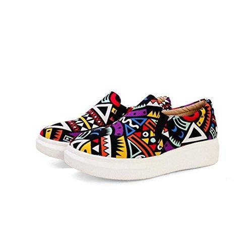 Ei&iLI Chaussures de Lok Fu Graffiti deep pan chaussures pour femmes grande taille , purple , 43