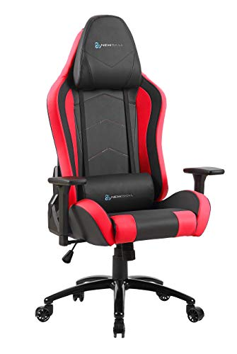 Newskill Takamikura - Silla gaming profesional (inclinacion y altura regulable, reposabrazos ajustables, reclinable 180º), Color Roja