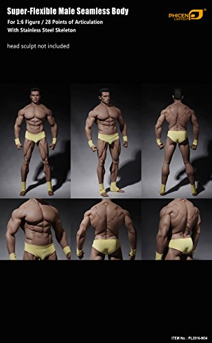 41QoxOP3ZGL - Phicen 1/6 Scale Super Flexible Male Muscular Seamless Body PL2016-M34