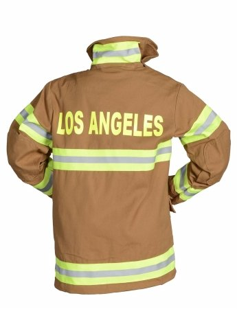 Aeromax Jr. LOS ANGELES Fire Fighter Suit, Tan, Size 2/3.  The best #1 Award Winning firefighter suit.  The most realistic bunker gear for kids everywhere.  Just like (Firefighter Tan Suit)