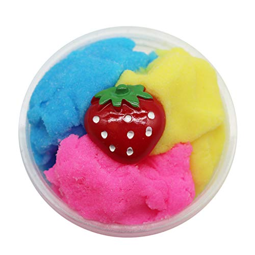 Gbell  Beautiful DIY Slime for Girls Boys , Beautiful Fruits Fluffy Slime Colorful Cloud Slime Putty Scented Stress Kids Clay Toy Super Soft Sludge Toy for Kids (2Oz) ()