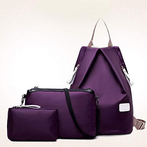 De Bag Nylon Wine Para Fucsia Bolso Piezas Azul Shoulder Set Púrpura Bolsos Travel Setscross Mochila Bags Body 3 Mujer Qztg Purse AzYww