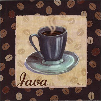 Cup of Joe IV Art Poster PRINT Paul Brent 12x12