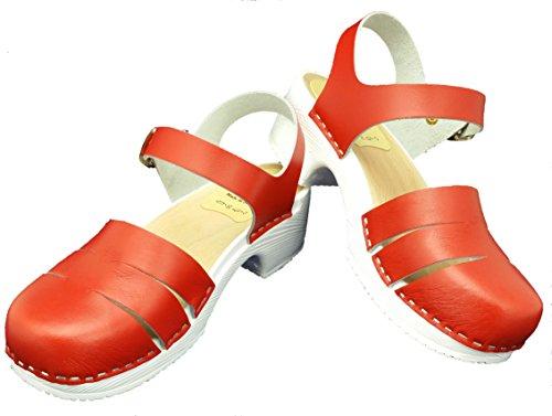 Sandalette rot mit PU Sohle